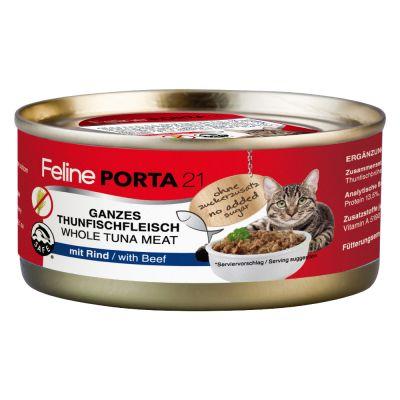 Feline Porta 21 -kissanruoka 6 x 156 g - tonnikala & kilohaili (viljaton)