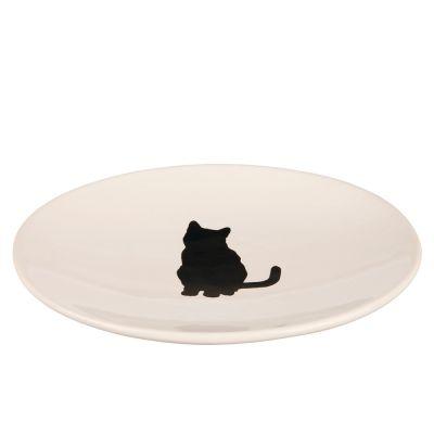 Trixie-keramiikkalautanen, kissakuvioitu - P 18 x L 15 cm