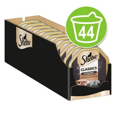 Sheba Receta única 44 x 85 g en tarrinas comida húmeda para gatos - Classics - paté con salmón