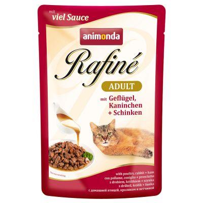 Image of Sparpaket Animonda Rafiné 24 x 100 g - Delikate Vielfalt in Sauce (4 Sorten)
