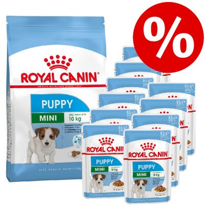 Extra voordelig! Royal Canin Puppy Size droogvoer + natvoer! - Medium Puppy (15kg) + Medium Puppy natvoer (10 x 140g)