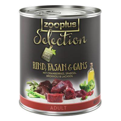 zooplus Selection Adult hovězí, bažant husa 6 x 800 g
