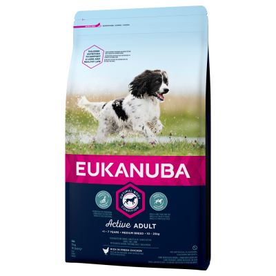Eukanuba Active Adult Medium Breed Chicken - 15 kg