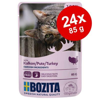 Bozita Chunks in Gravy Pouch -säästöpakkaus 24 x 85 g - nauta