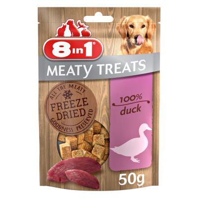 8in1 Meaty Treats - 2 x ankka & omena (2 x 50 g)