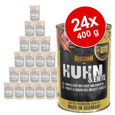 Belcando Super Premium 24 x 400 g -säästöpakkaus - kalkkunaa riisillä ja kesäkurpitsalla