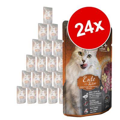 Leonardo Finest Selection Pouch -säästöpakkaus 24 x 85 g - kani & karpalo