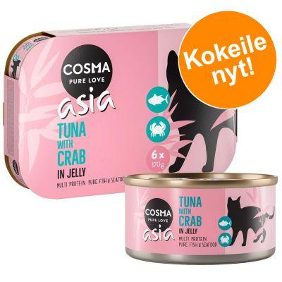 Cosma Thai/Asia -valikoima hyytelössä - lajitelma II 85 g (6 makua)