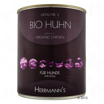Herrmanns Menu Classic 6 x 800 g – luomukana, hirssi & vihannekset
