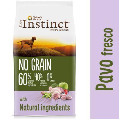 Nature's Variety True Instinct No Grain Medium-Maxi con pavo fresco - Comida húmeda:salmón y pollo 4 x 300 g