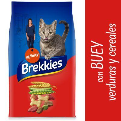 Brekkies con buey, verduras y cereales para gatos - 2 x 15 kg - Pack Ahorro