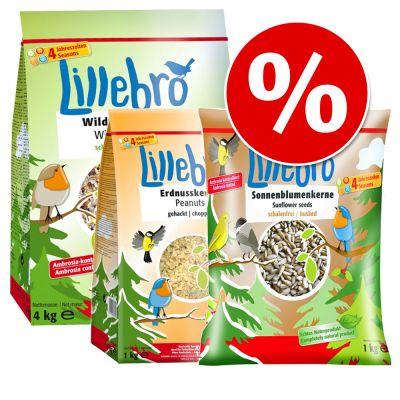 Lajitelma: Lillebro kuoreton linnunruoka + maapähkinä + auringonkukansiemen - 3-osainen setti
