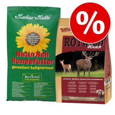 2 x 5 kg! 10 kg Markus-Mühle -yhteispakkaus erikoishintaan! - mix: NaturNah & Red Deer