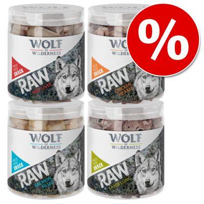 Säästöpakkaus: Wolf of Wilderness - kylmäkuivatut herkut - mix, 4 makua (280 g)