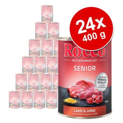 Rocco Senior -säästöpakkaus 24 x 400 g - siipikarja & kaurahiutaleet