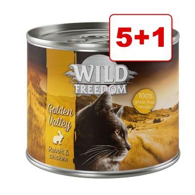 Wild Freedom 6 x 200 g: 5 + 1 kaupan päälle! - Green Lands - lammas & kana