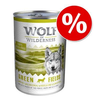 6 x 400 g Wolf of Wilderness koiranruoka vain 9,99€! - Junior Blue River - kana & lohi