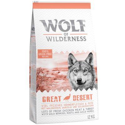 Wolf of Wilderness Adult ''Great Desert'' - met Kalkoen