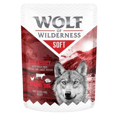 "Wolf of Wilderness Adult Pouch ""High Valley"" - Huhn mit Rind"