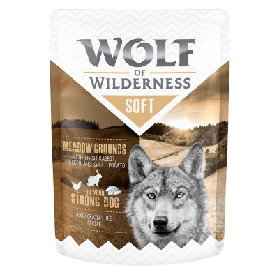 "Wolf of Wilderness Adult Pouch ""Meadow Grounds"" - Huhn mit Kaninchen"