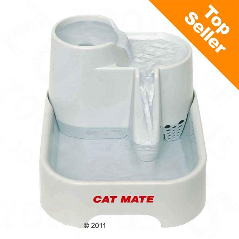 Fontaine à eau Cat Mate 2 L pour chien et chat - 2 filtres de rechange