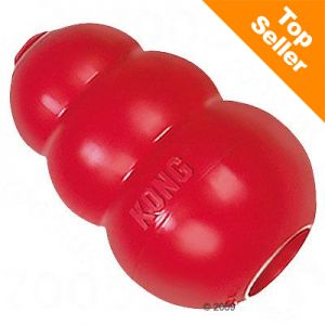 The Kong Classic dog treat dispenser toy