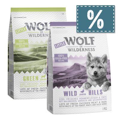 Little Wolf of Wilderness Junior - gemischtes Probierpaket (2 x 1 kg)