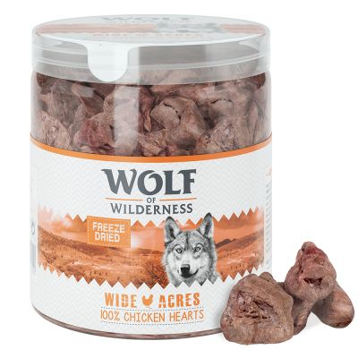 "Wolf of Wilderness ""Wide Acres"" - Gefriergetrocknete Premium-Snacks - Hühnerherzen"