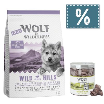Wolf of Wilderness Junior 4 kg Trockenfutter + gefriergetrocknete Premiumsnacks